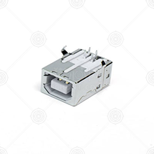 BF90°-DIP-弯脚-白胶-铁壳 USB连接器 DIP 托盘