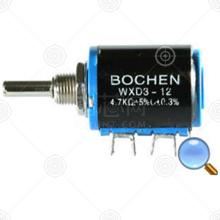 WXD3-12-2W 220Ω电位器、其他可调电阻品牌厂家_电位器、其他可调电阻批发交易_价格_规格_电位器、其他可调电阻型号参数手册-猎芯网