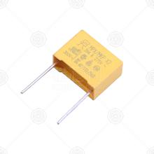 MP2154KGC3XLX 安规电容 150nF(154) 13.0*6*12/P=10 ±10% 275V