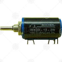 WXD3-13-2W 220Ω电位器、其他可调电阻品牌厂家_电位器、其他可调电阻批发交易_价格_规格_电位器、其他可调电阻型号参数手册-猎芯网