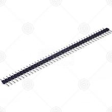 210S-1*40P L=11.6MM镀金黑色 排针 DIP P=2.54mm