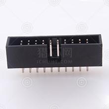 300S-12P黑色材质PA6T牛角连接器品牌厂家_牛角连接器批发交易_价格_规格_牛角连接器型号参数手册-猎芯网