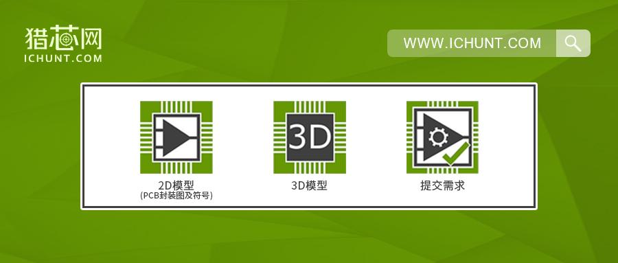 猎芯网上线新功能!帮助工程师轻松获取物料PCB封装图、3D模型和符号